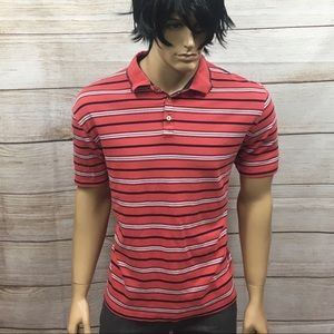 Men's Izod Designer Preppy Striped Polo Shirt XL